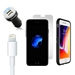 iPhone 8/7/6S/6 Bundle with Speck Presidio Grip Case - Dual USB Vehicle Charger, Lightning Cable and Screen Protector - iPhn7/8speckbundlewscreenprotector-CC